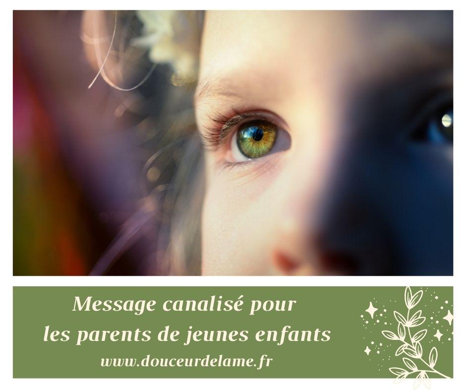 Message canalisé pour les parents de jeunes enfants